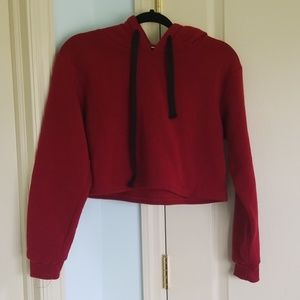 Shein Wine Red Cropped Sweater
